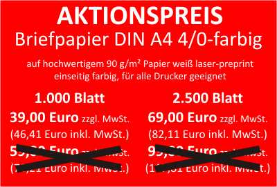 Aktion Briefpapier